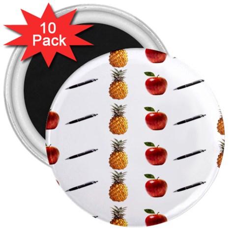 Ppap Pen Pineapple Apple Pen 3  Magnets (10 pack)