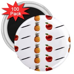 Ppap Pen Pineapple Apple Pen 3  Magnets (100 pack)