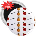 Ppap Pen Pineapple Apple Pen 3  Magnets (100 pack) Front