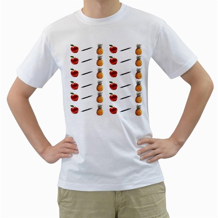 Ppap Pen Pineapple Apple Pen Men s T-Shirt (White) (Two Sided)