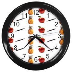 Ppap Pen Pineapple Apple Pen Wall Clocks (Black)