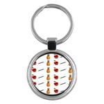 Ppap Pen Pineapple Apple Pen Key Chains (Round)  Front