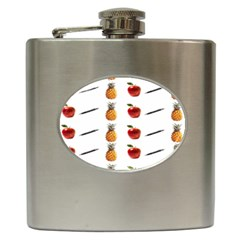 Ppap Pen Pineapple Apple Pen Hip Flask (6 oz)