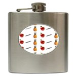 Ppap Pen Pineapple Apple Pen Hip Flask (6 oz) Front