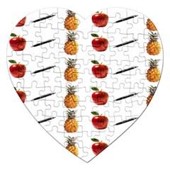 Ppap Pen Pineapple Apple Pen Jigsaw Puzzle (Heart)