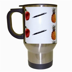 Ppap Pen Pineapple Apple Pen Travel Mugs (White)