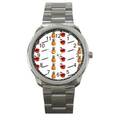 Ppap Pen Pineapple Apple Pen Sport Metal Watch