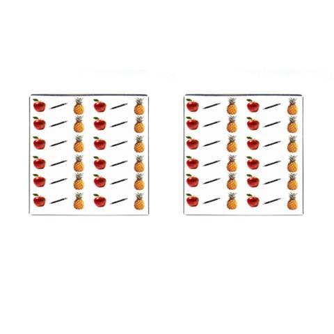 Ppap Pen Pineapple Apple Pen Cufflinks (Square)