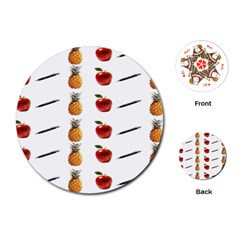 Ppap Pen Pineapple Apple Pen Playing Cards (Round)