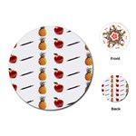 Ppap Pen Pineapple Apple Pen Playing Cards (Round)  Front