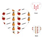 Ppap Pen Pineapple Apple Pen Playing Cards (Heart)  Front