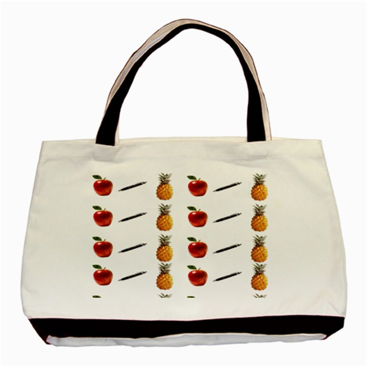 Ppap Pen Pineapple Apple Pen Basic Tote Bag