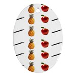 Ppap Pen Pineapple Apple Pen Oval Ornament (Two Sides) Front