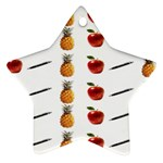 Ppap Pen Pineapple Apple Pen Star Ornament (Two Sides)  Front