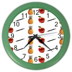 Ppap Pen Pineapple Apple Pen Color Wall Clocks
