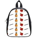 Ppap Pen Pineapple Apple Pen School Bags (Small)  Front
