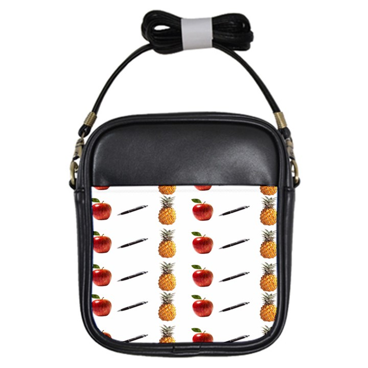 Ppap Pen Pineapple Apple Pen Girls Sling Bags