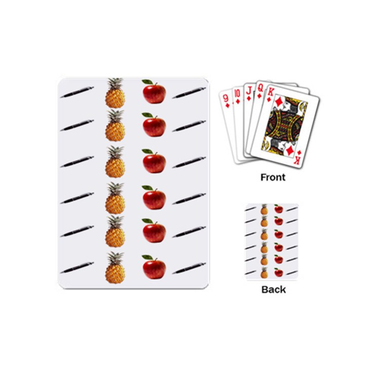 Ppap Pen Pineapple Apple Pen Playing Cards (Mini)