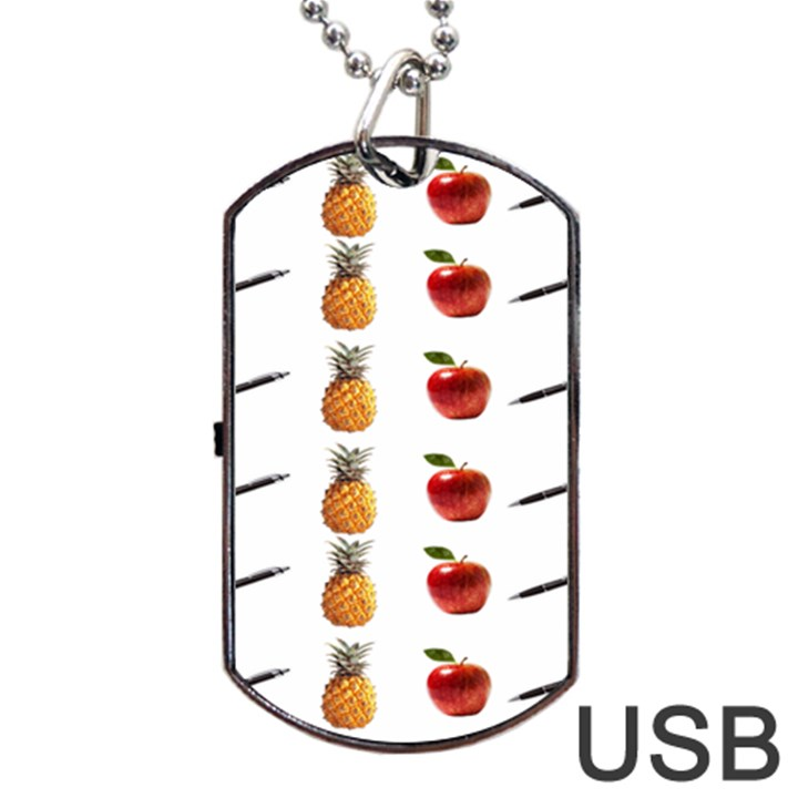 Ppap Pen Pineapple Apple Pen Dog Tag USB Flash (One Side)