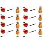 Ppap Pen Pineapple Apple Pen LOVE Bottom 3D Greeting Card (7x5) Back