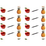 Ppap Pen Pineapple Apple Pen Apple 3D Greeting Card (7x5) Front
