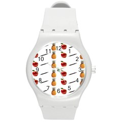 Ppap Pen Pineapple Apple Pen Round Plastic Sport Watch (M)