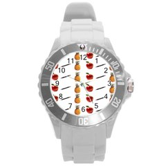 Ppap Pen Pineapple Apple Pen Round Plastic Sport Watch (L)