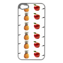 Ppap Pen Pineapple Apple Pen Apple iPhone 5 Case (Silver)