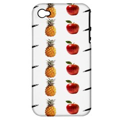 Ppap Pen Pineapple Apple Pen Apple iPhone 4/4S Hardshell Case (PC+Silicone)