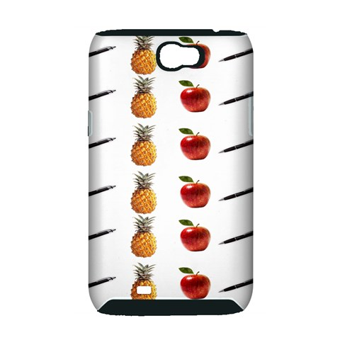 Ppap Pen Pineapple Apple Pen Samsung Galaxy Note 2 Hardshell Case (PC+Silicone)