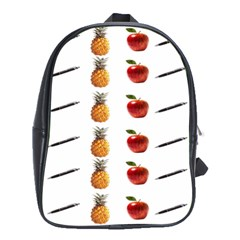 Ppap Pen Pineapple Apple Pen School Bags (XL)