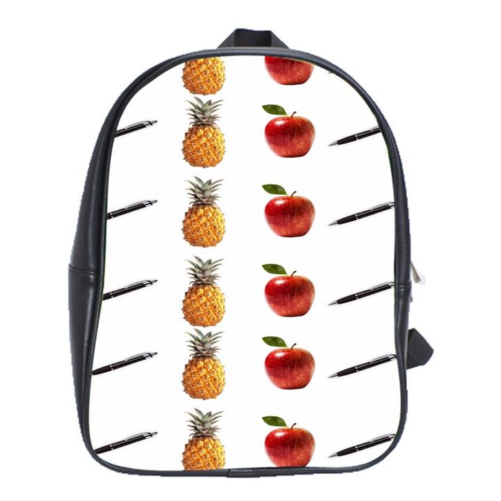Ppap Pen Pineapple Apple Pen School Bags (XL)