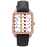 Ppap Pen Pineapple Apple Pen Rose Gold Leather Watch  Front