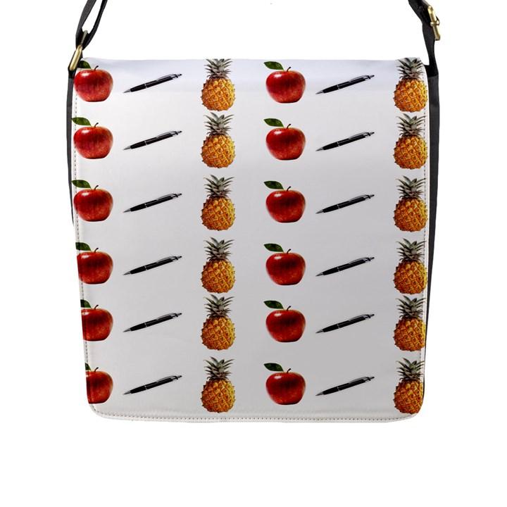 Ppap Pen Pineapple Apple Pen Flap Messenger Bag (L)