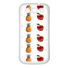Ppap Pen Pineapple Apple Pen Samsung Galaxy S3 Back Case (White)