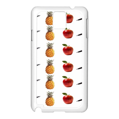 Ppap Pen Pineapple Apple Pen Samsung Galaxy Note 3 N9005 Case (White)
