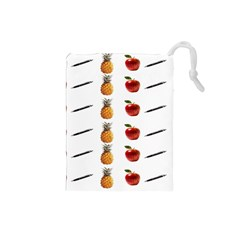 Ppap Pen Pineapple Apple Pen Drawstring Pouches (Small)