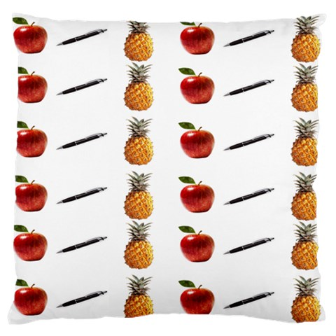 Ppap Pen Pineapple Apple Pen Large Flano Cushion Case (Two Sides)