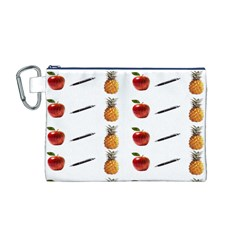 Ppap Pen Pineapple Apple Pen Canvas Cosmetic Bag (M)