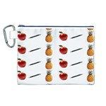 Ppap Pen Pineapple Apple Pen Canvas Cosmetic Bag (L) Front