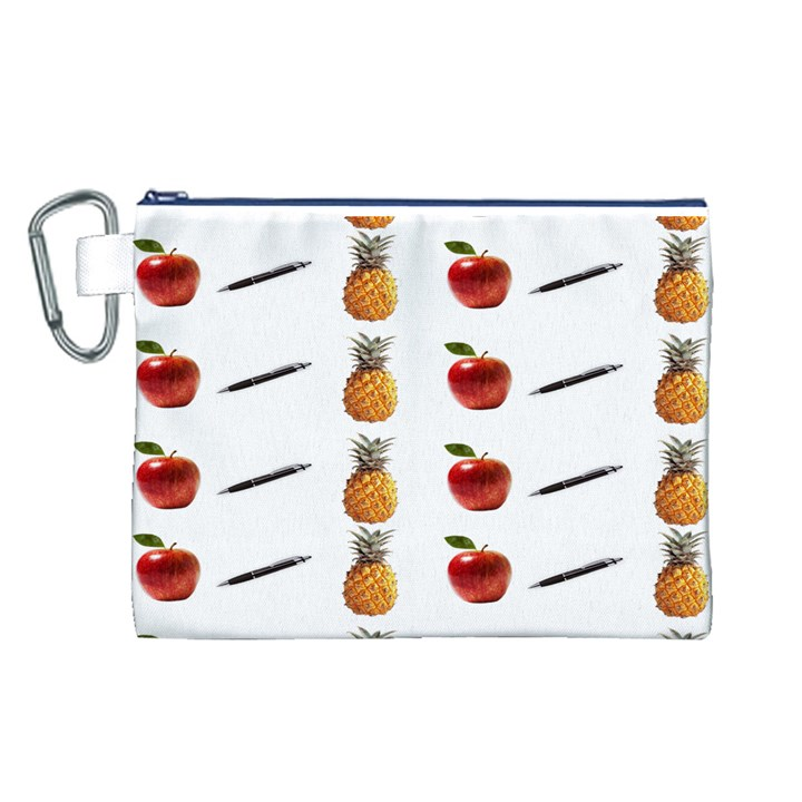 Ppap Pen Pineapple Apple Pen Canvas Cosmetic Bag (L)
