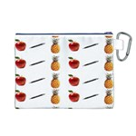 Ppap Pen Pineapple Apple Pen Canvas Cosmetic Bag (L) Back