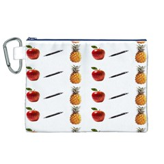 Ppap Pen Pineapple Apple Pen Canvas Cosmetic Bag (XL)