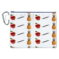 Ppap Pen Pineapple Apple Pen Canvas Cosmetic Bag (XXL)