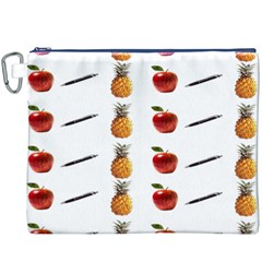 Ppap Pen Pineapple Apple Pen Canvas Cosmetic Bag (XXXL)