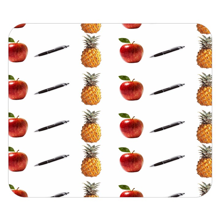 Ppap Pen Pineapple Apple Pen Double Sided Flano Blanket (Small)