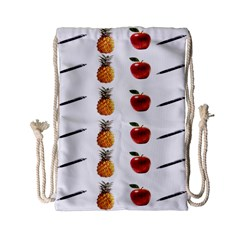 Ppap Pen Pineapple Apple Pen Drawstring Bag (Small)