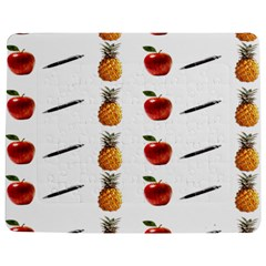 Ppap Pen Pineapple Apple Pen Jigsaw Puzzle Photo Stand (Rectangular)