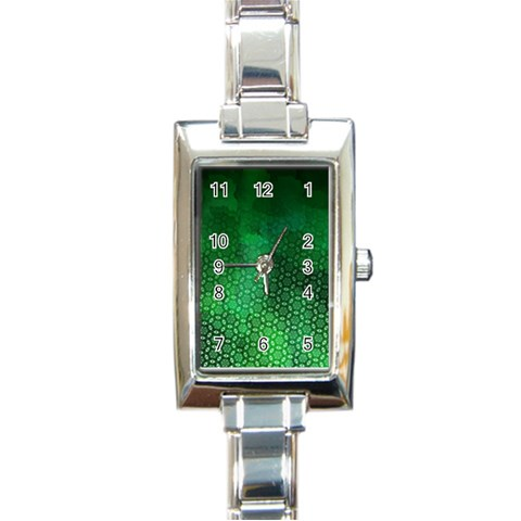 Ombre Green Abstract Forest Rectangle Italian Charm Watch