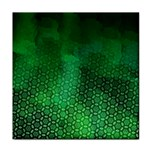 Ombre Green Abstract Forest Tile Coasters Front